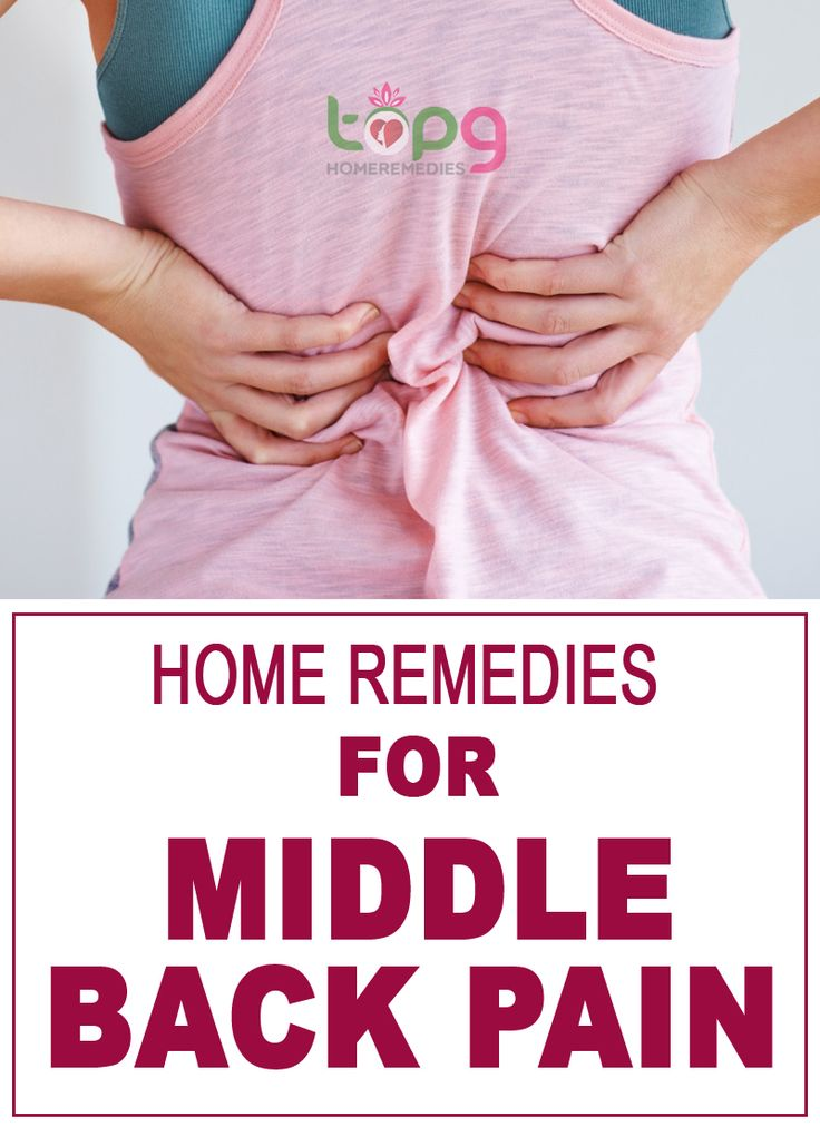 Home Remedies for Middle Back Pain..