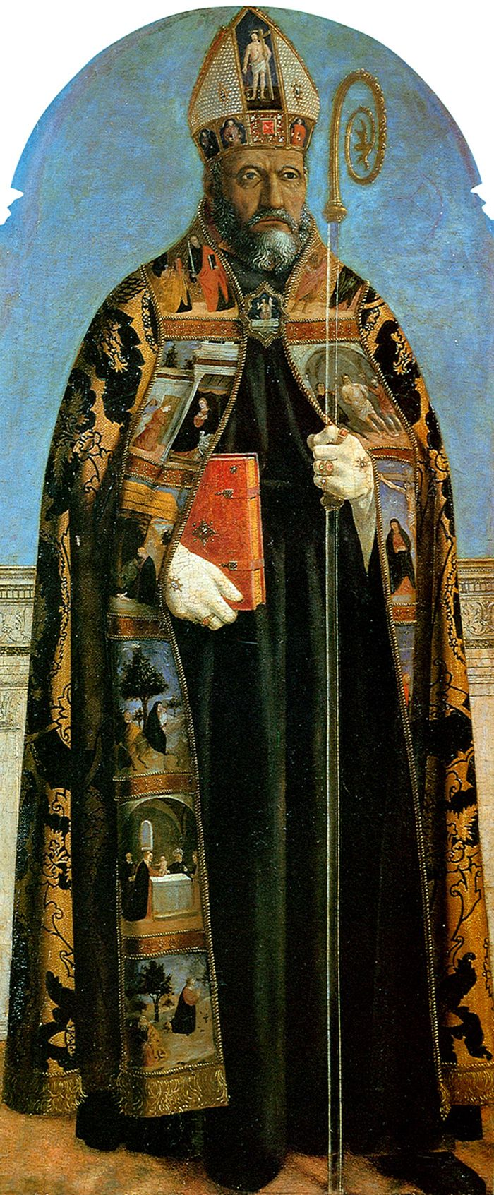 Polyptyque des Augustiniens - Saint Augustin Piero Della Francesca 1454-1469 Technique Tempera 132x57cm Exposé à Lisbonne (Portugal) au Museu Nacional de Arte Antiga