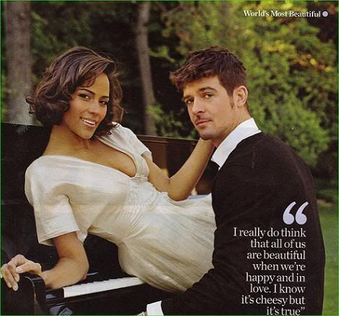 r singer Robin Thicke and actress Paula Patton, married now but together since they were 16 (so just about 20 years, which is record making in their industries and noteworthy even for the rest of today's society!) They are an adorable couple.