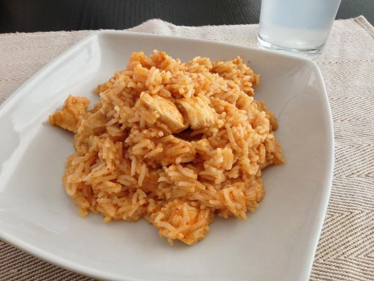 Receta de Arroz con pollo al curry thai