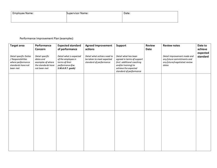 performance improvement plan template 05