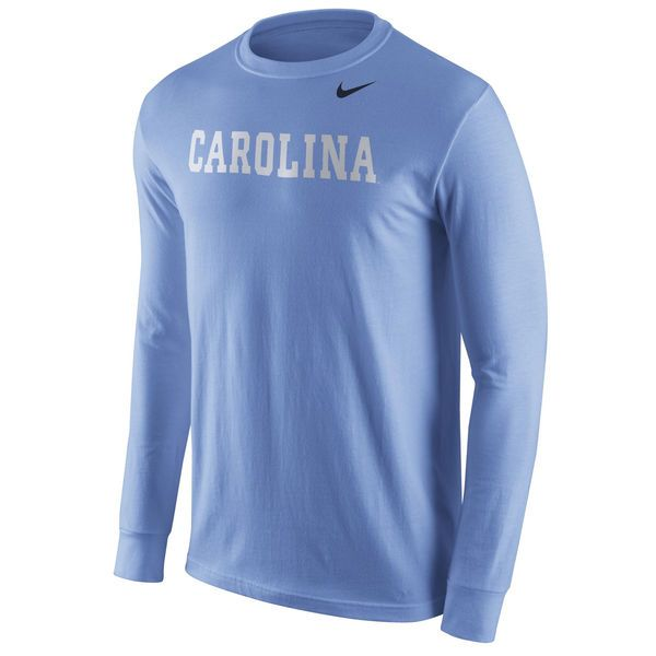 North Carolina Tar Heels Nike Wordmark Long Sleeve T-Shirt - Carolina Blue - - $31.99