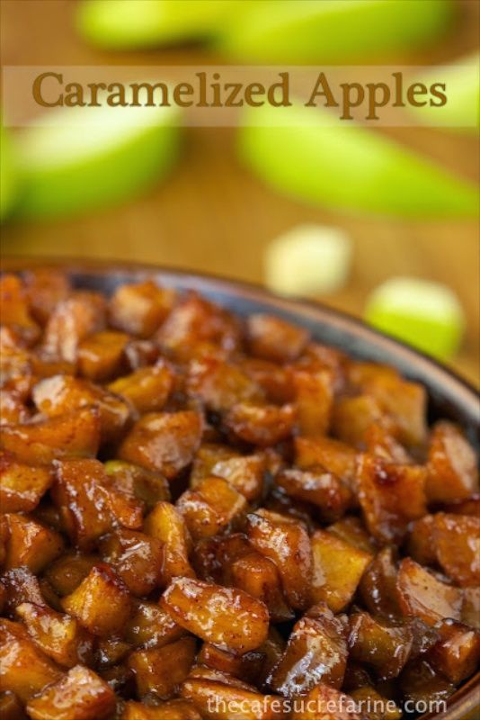 Caramelized Apples - Super easy, super delicious! Wonderful as an ice cream, pancake or waffle topping, along side roasted pork, with Greek yogurt...