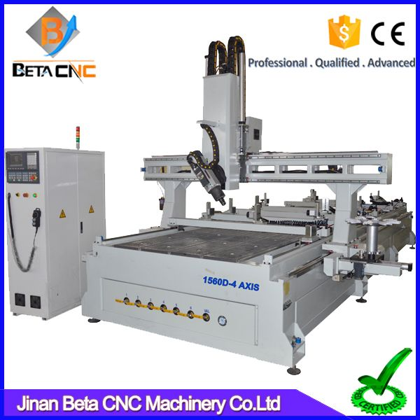 """Amazing 4 axis cnc engraving machine, cnc engraver router carving cutter for furniture making acrylic cutting"""