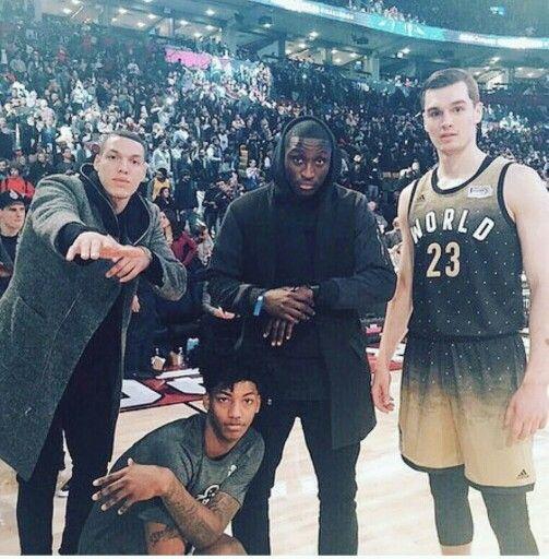 Aaron Gordon, Elfrid Payton, Victor Oladipo, & Mario Hezonja #NBAALLSTAR2016