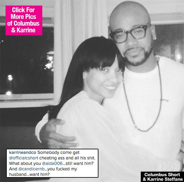 Columbus Short Cheated On Karrine Steffans? Wife Trashes 'Scandal' Star OnInstagram