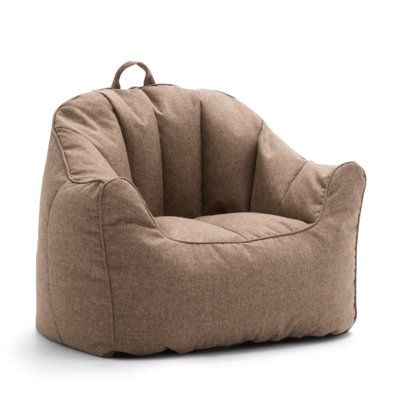 Comfort Research Big Joe Lux Hug Bean Bag Chair Upholstery Pecan