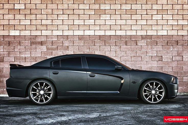 Dodge Charger Gets Matte Black Wrap and Vossen Wheels - Photo Gallery - autoevolution