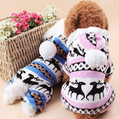 Pet Dog Christmas Costume Reindeer Elk Dress Fancy Clothes Outfit Apparel Supply