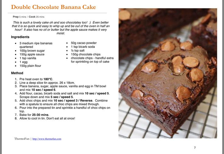 Chocolate Banana Cake Thermofun Recipe For Thermomix