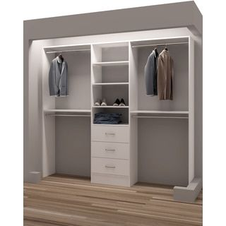 Shop for TidySquares Classic White Wood 87-inch Reach-in Closet Organizer. Get free shipping at Overstock.com - Your Online Home Improvement Outlet Store! Get 5% in rewards with Club O!