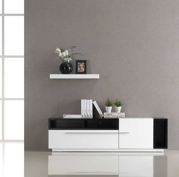 TV 030 White Gloss TV Stand JM Furniture In TV Stands And TV Consoles.  Contemporary TV Stand With A Beautiful Combination Of White Gloss And Dark  Oak.