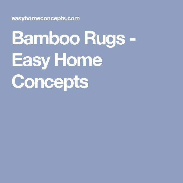 Bamboo Rugs - Easy Home Concepts