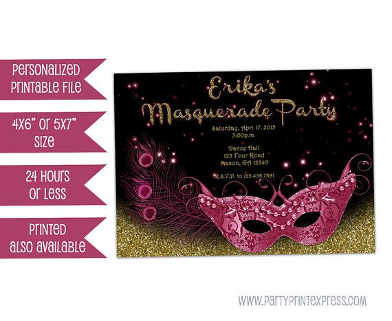 masquerade invitations