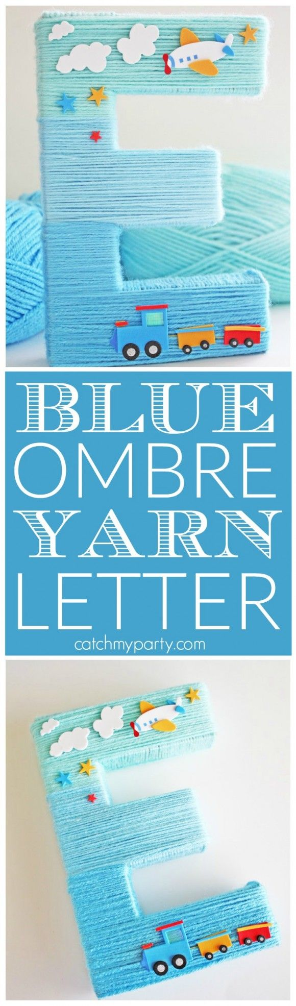 baby shower letters blue yarn wrapped ombre monogram letter ombre boy 20541 | b12951ac0a21e2b752584ac3ed8139af