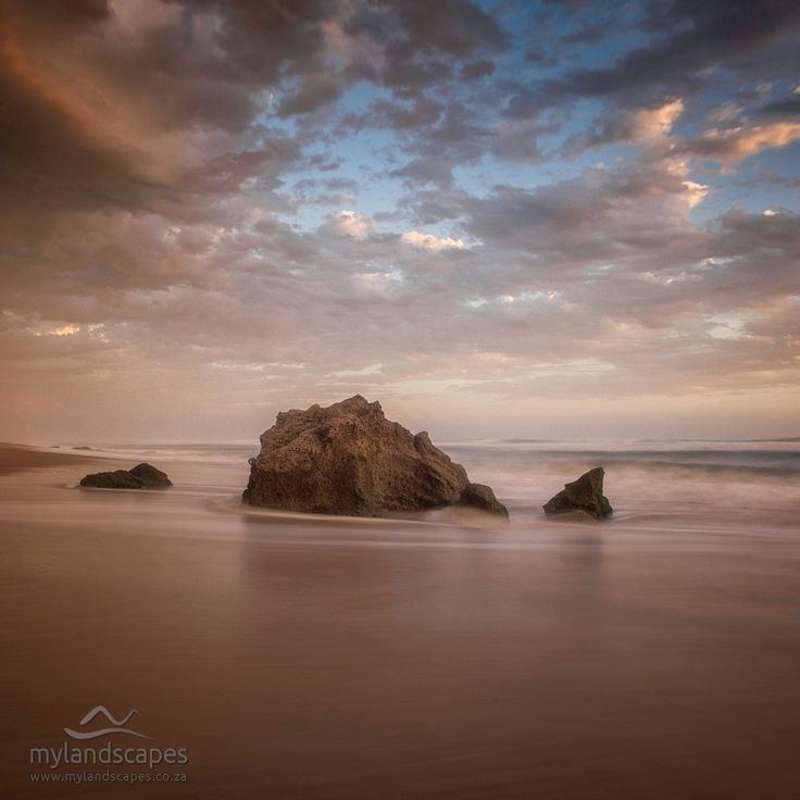 seascape - sunset at goukamma beach garden route south africa