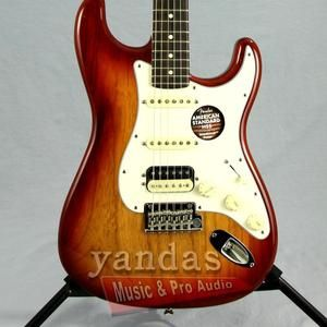Sienna Sunburst - Ash - Rosewood Fingerboard Fender American Standard Stratocaster HSS Shawbucker - Yandas Music - 2