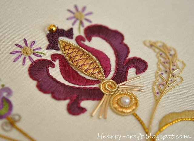 Close up of embroidery (goldwork) details: Fantasia rajmahal blog 3 | Flickr - Photo Sharing!
