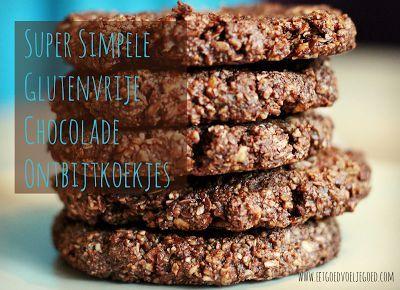 +++ Super Simpele Glutenvrije Chocolade Ontbijtkoekjes - Eet goed, Voel je goed