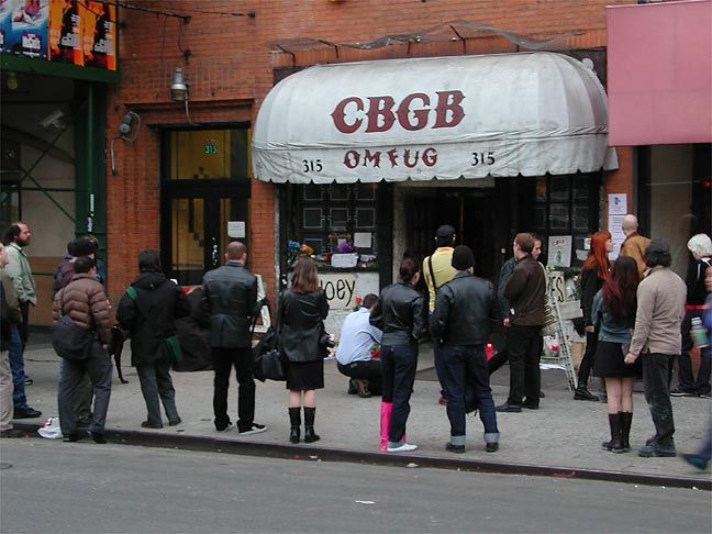 CBGB in New York. The Ramones and Patti Smith made this place a legend