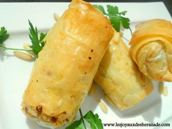 Boureks / recette libanaise à la pâte filo