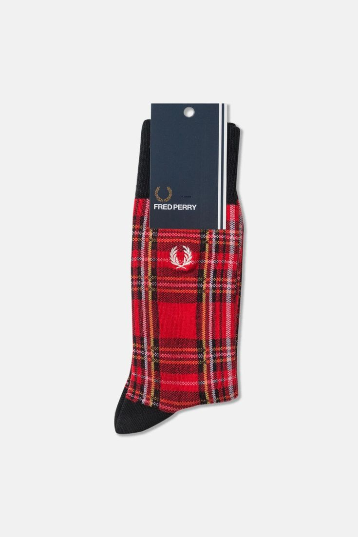 Fred Perry Royal Stewart Tartan Socks available from Priory
