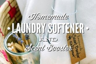 homemade laundry softener and scent booster