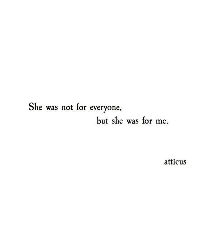 'For Me' @atticuspoetry #atticuspoetry