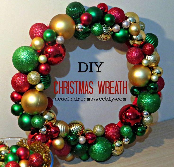 DIY Christmas Wreath   acaciadreams.weebly.com