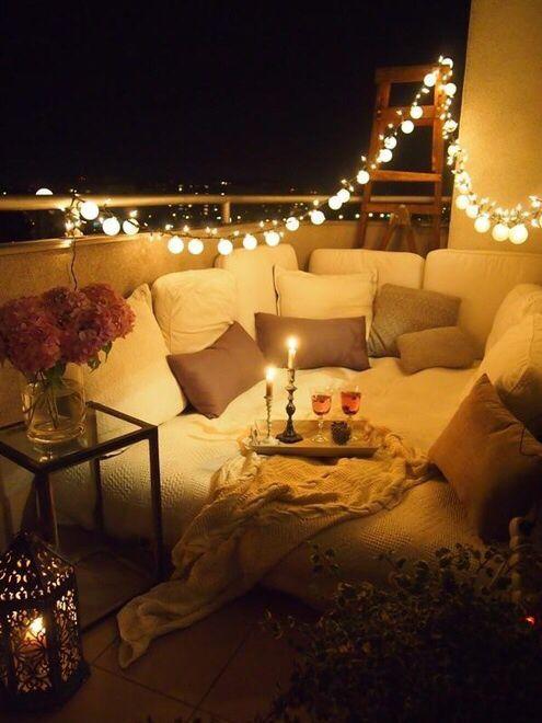 Cozy balcony decor