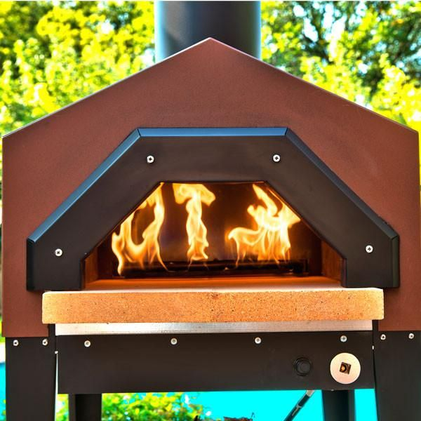 Chicago Brick Oven Americano with Stand - this Pizza Oven with stand is perfect for a patio. Free US shipping for the Chicago Brick Oven Americano Pizza Oven.