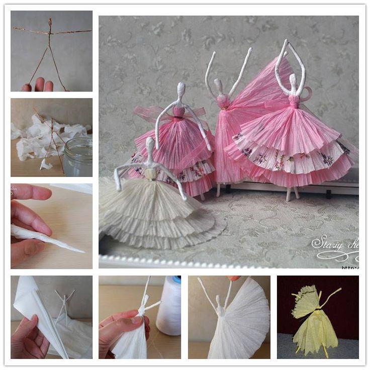 How to DIY Tissue Paper Ballerina tutorial and instruction. Follow us: www.facebook.com/fabartdiy
