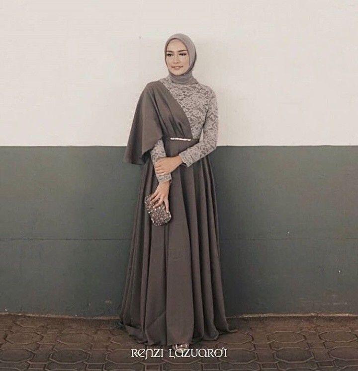 Renzilazuardi Renzilazuardi Hijab Dress Party Kebaya Modern Dress Muslimah Dress