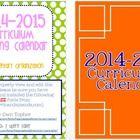 2014-2015 Editable Curriculum Planning Calendar {Chevron Background}