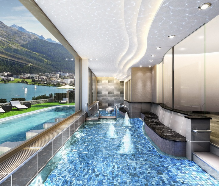 Spectacular views from the Spa at the Kulm Hotel in St. Moritz