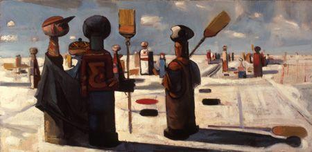 The Bonspiel, 1954 - Kenneth Lochhead