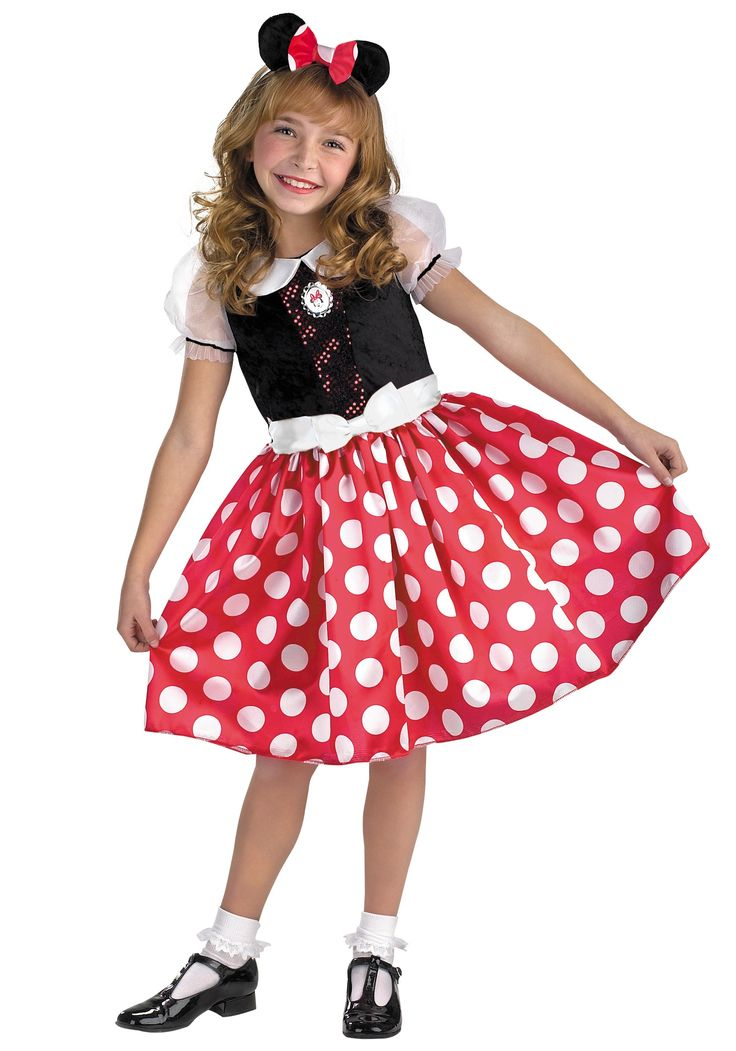 Kids Minnie Mouse Costume - Child Minnie Mouse Costumes