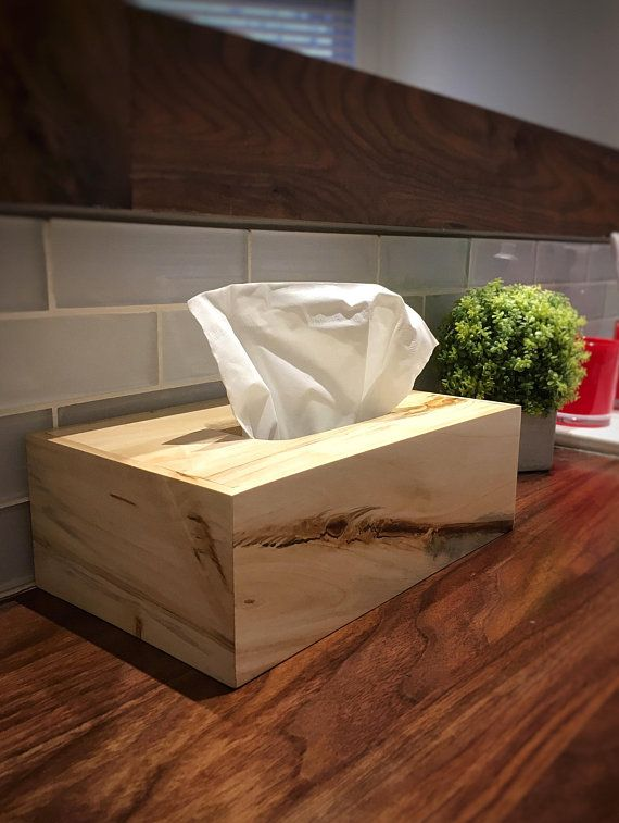 tissue box cover kleenex SOLID wood box