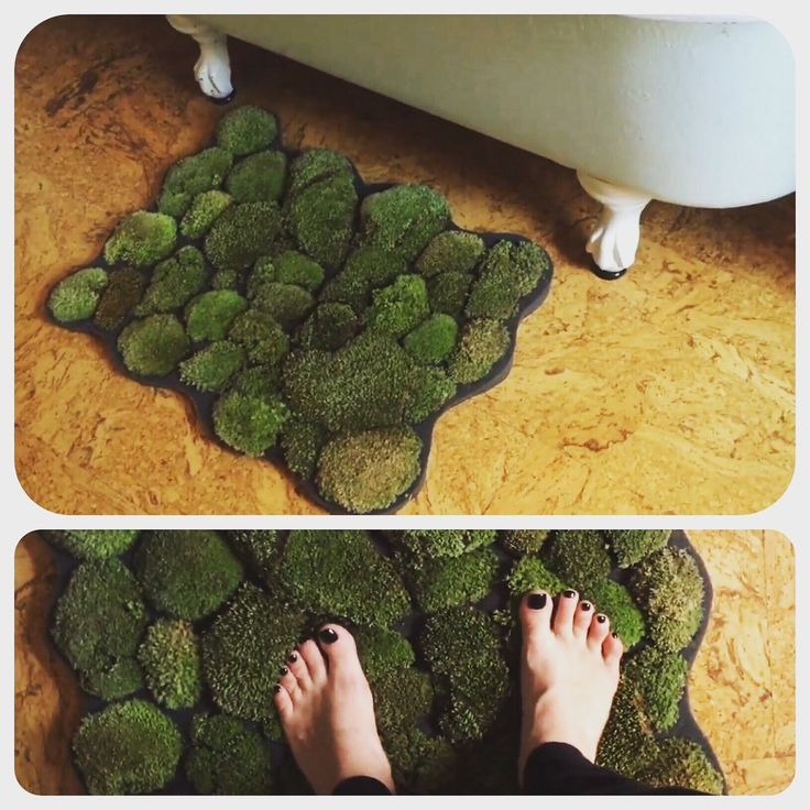 How To Make A Moss Shower Mat In 2020 With Images Diy Bath