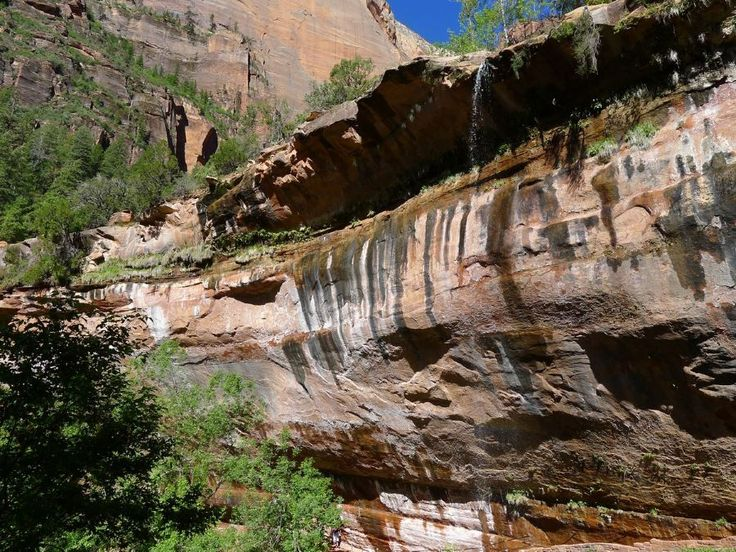This gentle hike brings trekkers up to the stunning spring-fed three-tiered Emerald Pools, with fantastic views of the sandstone cliffs lining the valley.