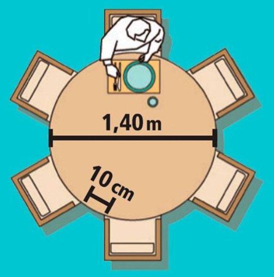 Mesa redonda 6 pessoas