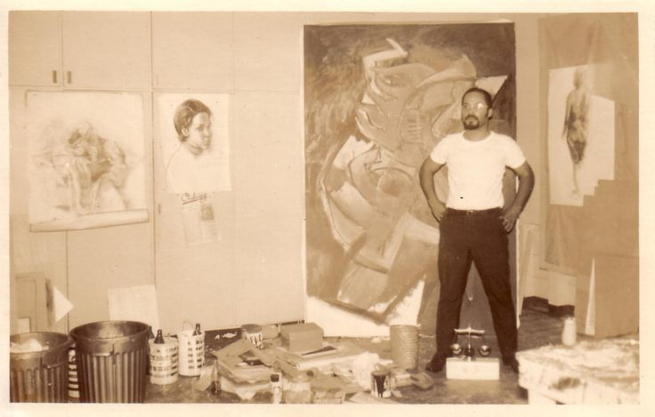 Jules Chin A Foeng - Oprichter van de eerste Kunstopleiding in Suriname, in de jaren 60, welke in 1981 officieel de eerste Surinaamse Kunst Academie werd. Klik op foto voor meer info.
