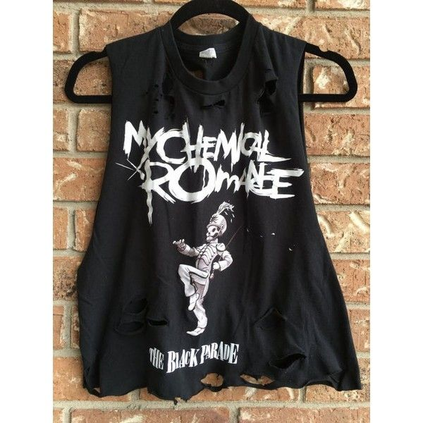 MY CHEMICAL ROMANCE tank top, concert shirt band tee, cropped tank,... ❤ liked on Polyvore featuring tops, crop shirts, crop tank, crop top, rock shirts and rock tops
