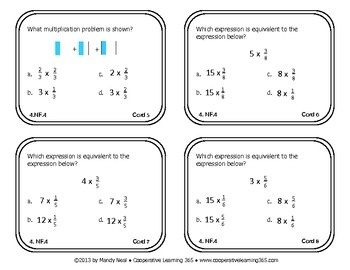Task Cards for 4th Grade Common Core Math (CCSS 4.NF.4