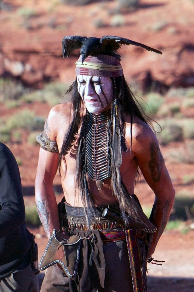 Johnny Depp as set as Tonto in the Lone Ranger!