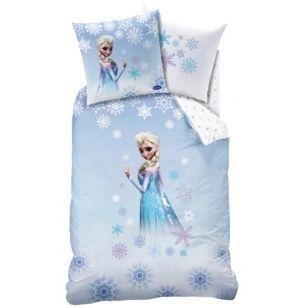 Coordinato letto copripiumino e federa con Elsa Frozen della Disney.