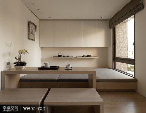 兼具泡茶區、和室、客房及藝品展示的機能。