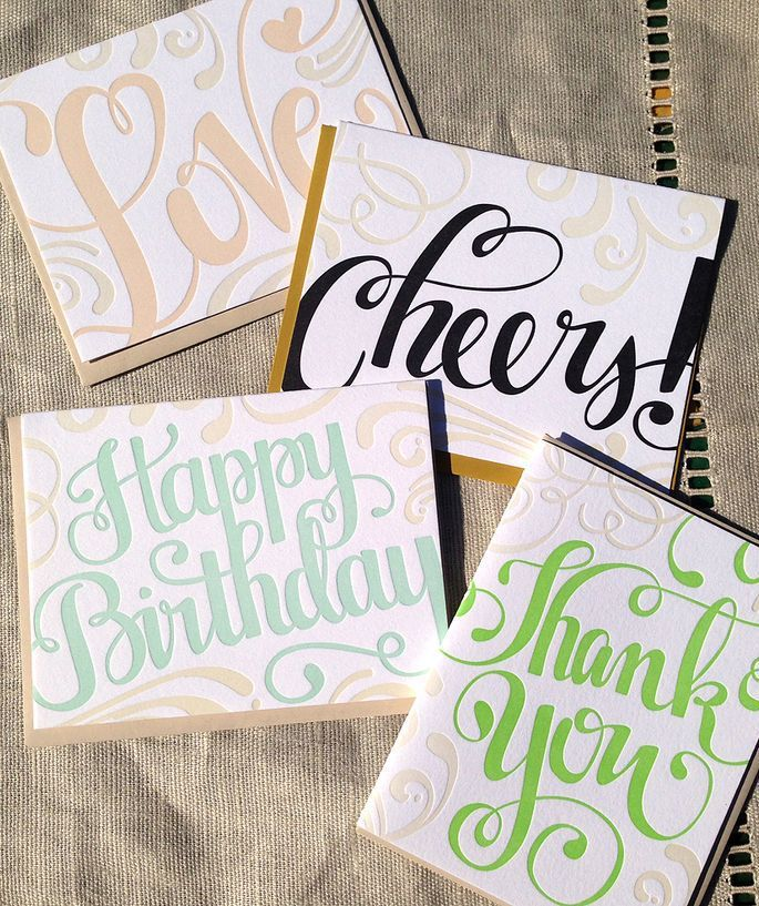 Letter Press Greeting Cards