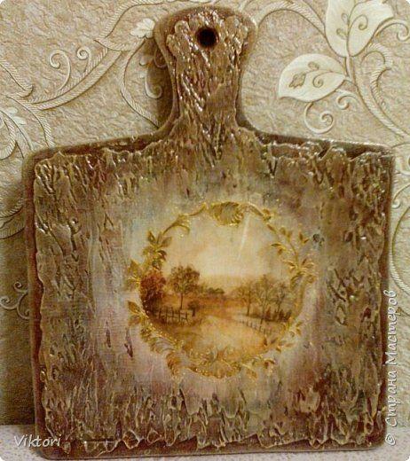 Декор предметов Декупаж Старинная доска Дерево Краска фото 1