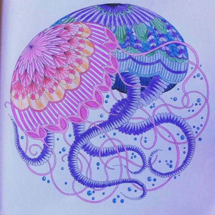 Art From Last Week End Milliemarotta Animalkingdom Colour Drawingunderthesea DrawingJellyfishColouringTropicalWonderland